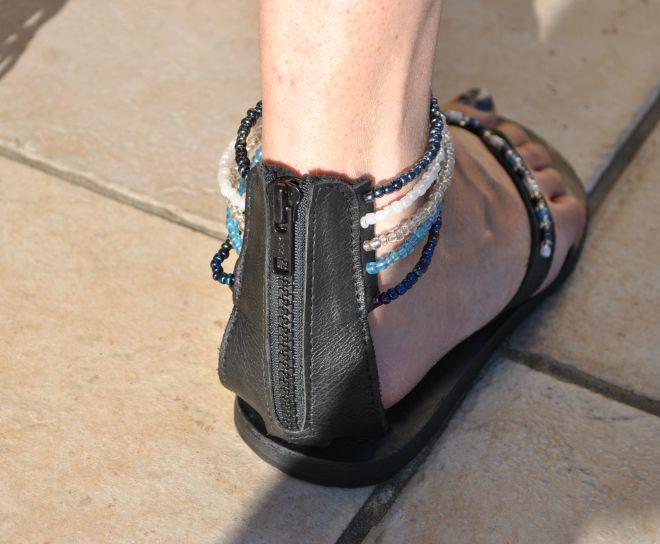 Fermeture Cuir Ethnique Femmes Look Zip Sandale Sandales En YfIgy67bvm
